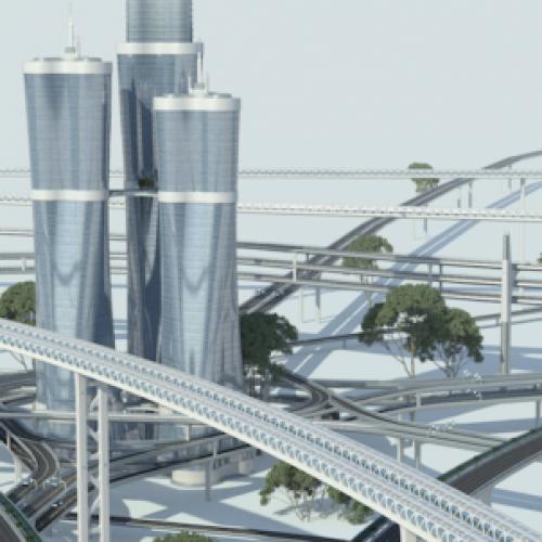 Multilevel transport roads
